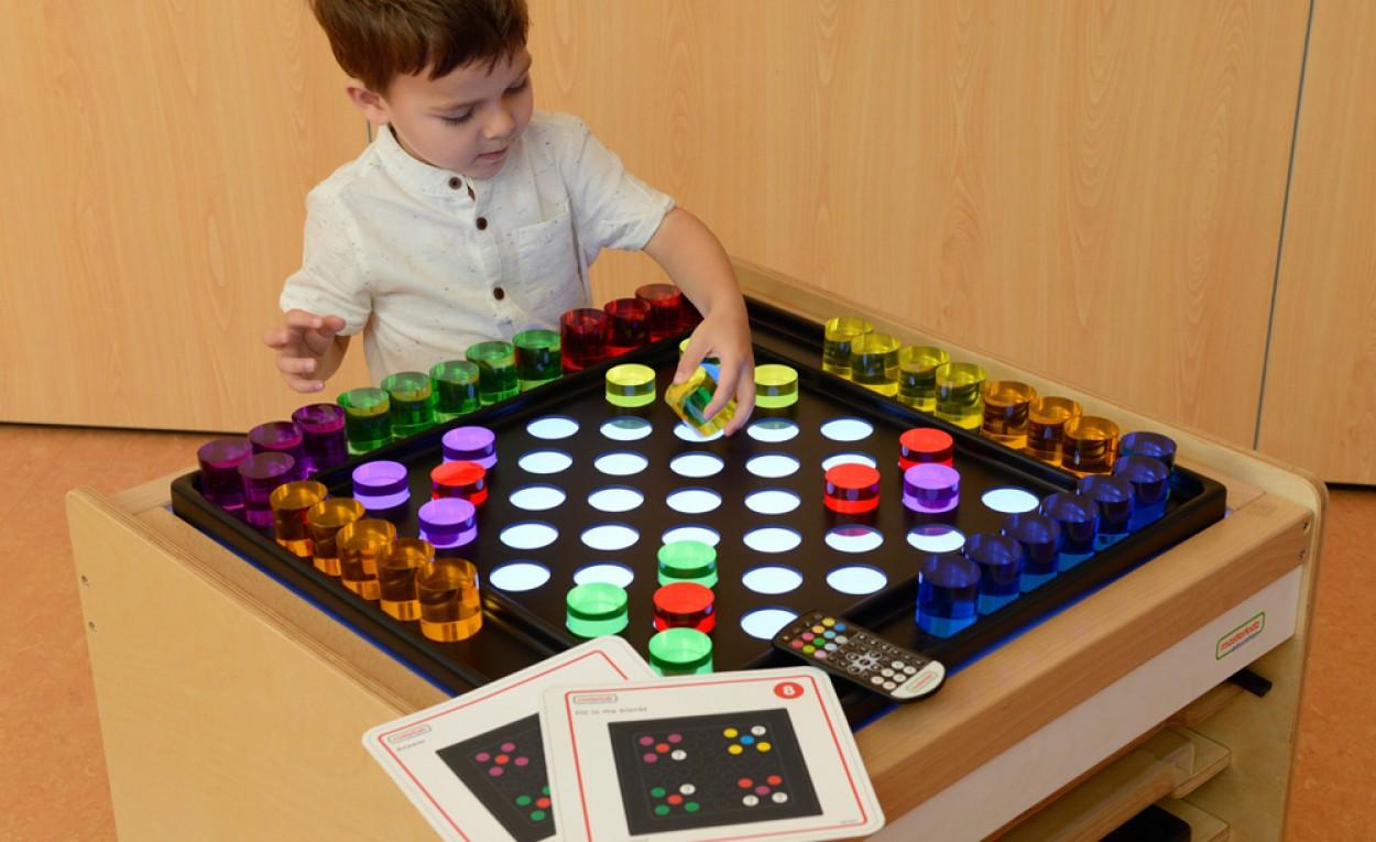 6 Colour Translucent Acrylic Cylinders 48 Piece Set